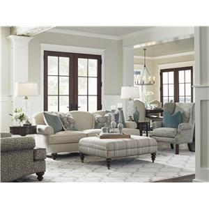 Lexington Coventry Hills Stowe Slipcover Chair with English Arms