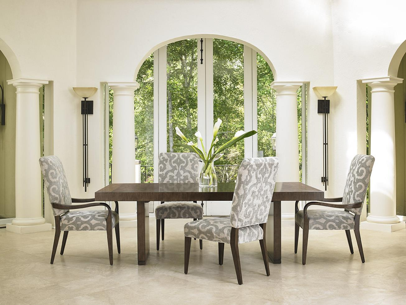 Lexington LAUREL CANYON Six Piece Dining Set With Bollinger Table And  Sierra Customizable Chairs | Fisher Home Furnishings | Dining 5 Piece Sets