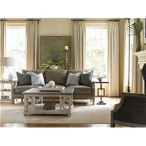 Lexington Oyster Bay Stowe Slipcover Chair in Gray