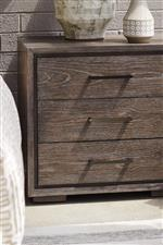 Shadowbox grooves create depth and an architectural vibe for your contemporary storage pieces
