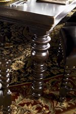 Elaborately turned legs on the Pembroke Dining Table is similar to various other pieces