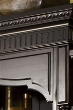Detailed moulding of the Grenadier Entertainment Center