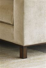 Simple, Straight Legs with an Umbria Finish Reinforce the Simplistic Nature of the Collection
