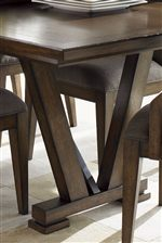 Neat Architectural Elements Make Up the Pinnacle Table Base Creating Visual Appeal and Interest