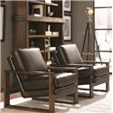 Lexington 11 South Axis Leather Chair with Exposed Wood