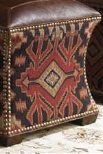 The Timeworn Feel of Supple Leather is Mixed with a Rich Palette of Textures, Kilim Patterns, and Soft Chenilles