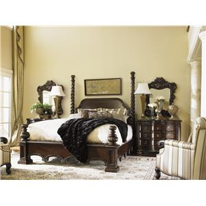 Lexington Florentino Queen Soaring Extended Spiral Post Bed