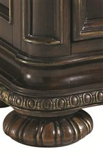 Distinctive Bun Feet and Intricate Moldings