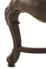 Cabriole Legs with Nailhead Trim
