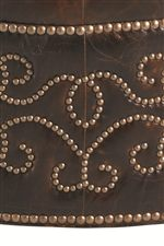 Scrolled Pattern of Nailhead Studs