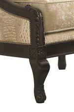 Ornately Carved Cabriole Legs in a Rich, Mezzo finish