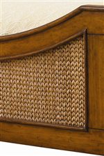 Woven Lampakanai in a Distinctive Chevron Pattern on Select Headboards & Footboards