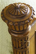 Leather Wrapped Reeded Bamboo Posts