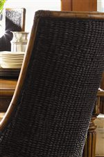 Rich Tobacco Color of Woven Abaca on Select Chairs