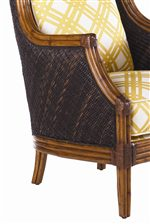 Wicker and Leather Wrapped Rattan Frame