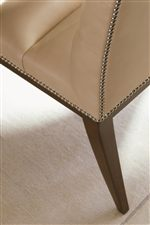 The Application of Polished Nickel Nailhead Trim Enhances the Sophistication and Classic Appeal of the Collection