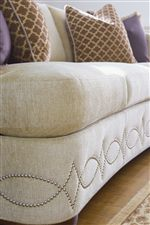 Graceful  Decorative Nailhead Trim on Base Creates a Striking Visual Interest that Will Stand Out in Any Space