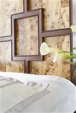 Figure Patterns Behind Walnut Fretwork Confer an Elegant Look with Modern Lines