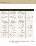 Combine Assorted Sectional Components to Create a Custom Sectional in a Variety of Configured Styles