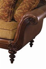 Tommy Bahama Home Island Estate Nassau Chair with Exposed Wood Accents