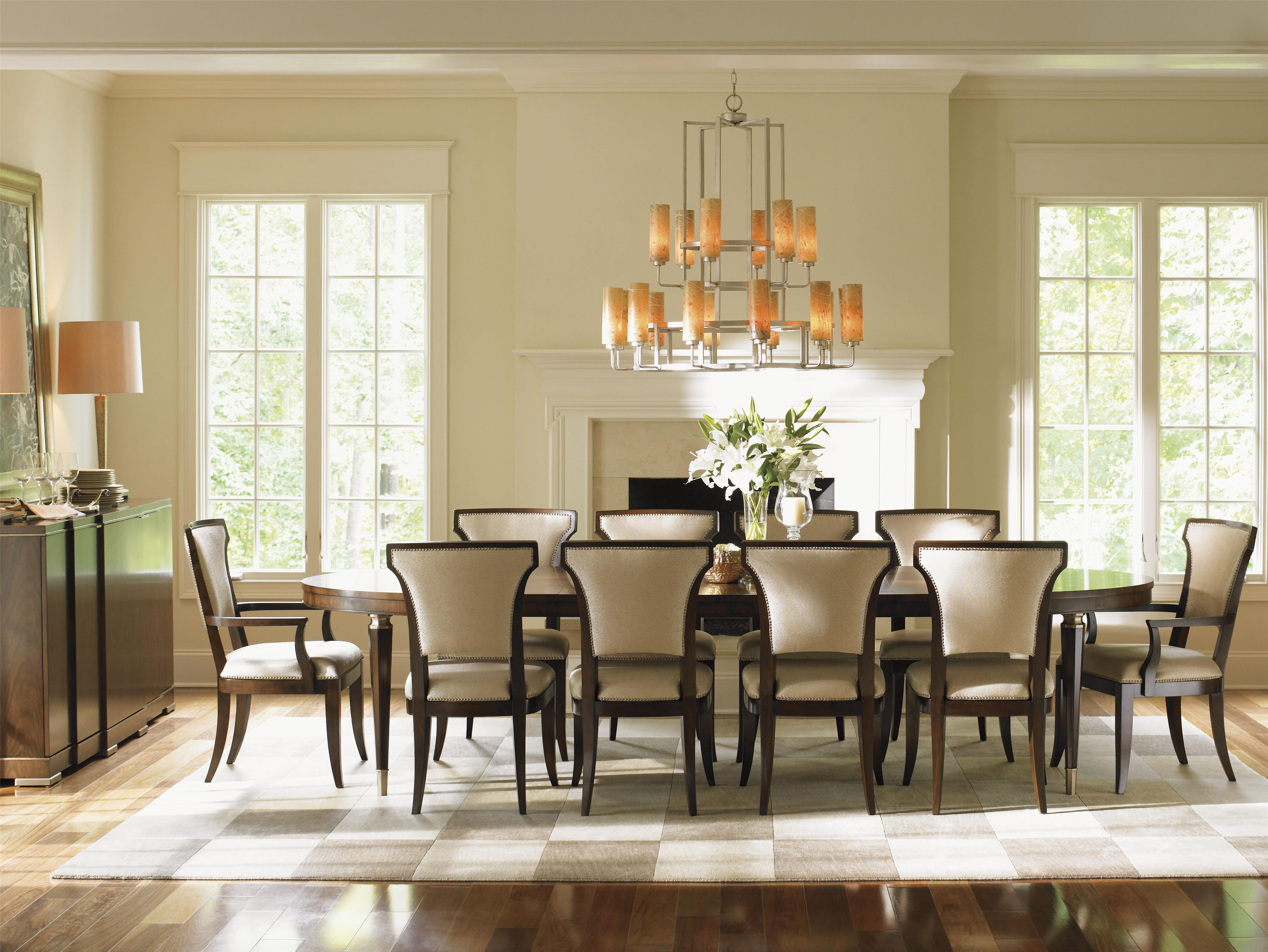 Tower Place 12 Piece Formal Dining Room Group with Quickship Upholstery by  Lexington at John V Schultz Furniture
