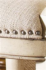 Trims of Pewter Nail Heads Showcase the French Laundry Styling of Twilight Bay