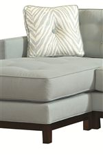 Detached Sectional Ottoman with Moveable Cushion