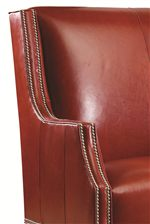 Slender Back Wings with Sloped Track Arm and #13 3/8-inch Nickel Nailhead Trim