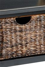 Contrasting Wicker Drawers