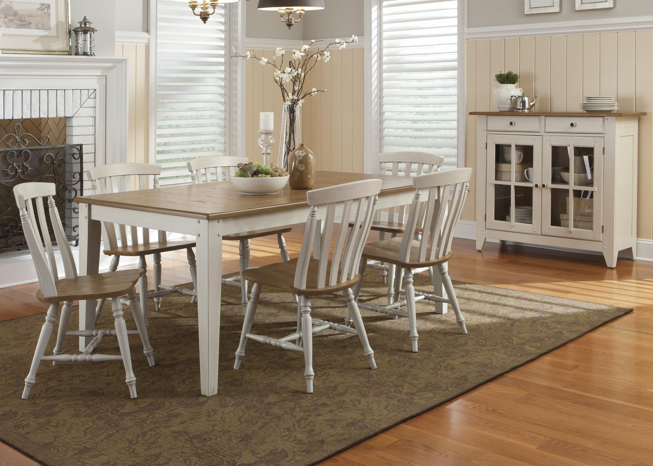 Liberty Furniture Al Fresco III Round Drop Leaf Dining Leg Table