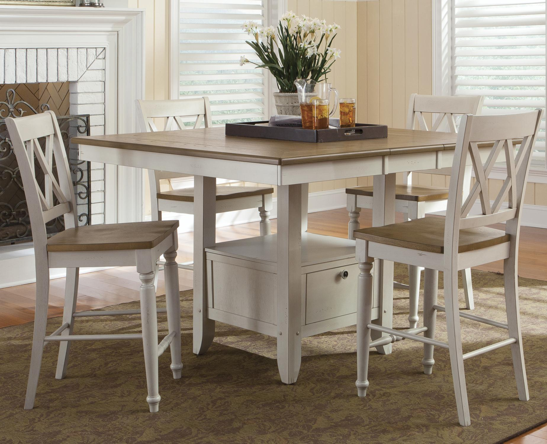 Liberty Furniture Al Fresco III 5 Piece Gathering Table and Chairs Set - Item Number & Liberty Furniture Al Fresco III Five Piece Gathering Table with ...