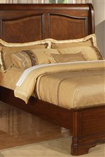 Elegant Sleigh Shaped Headboard with Primavera Veneers