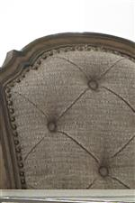 Button Tufted Chair Backs with Antique Brass Nailhead