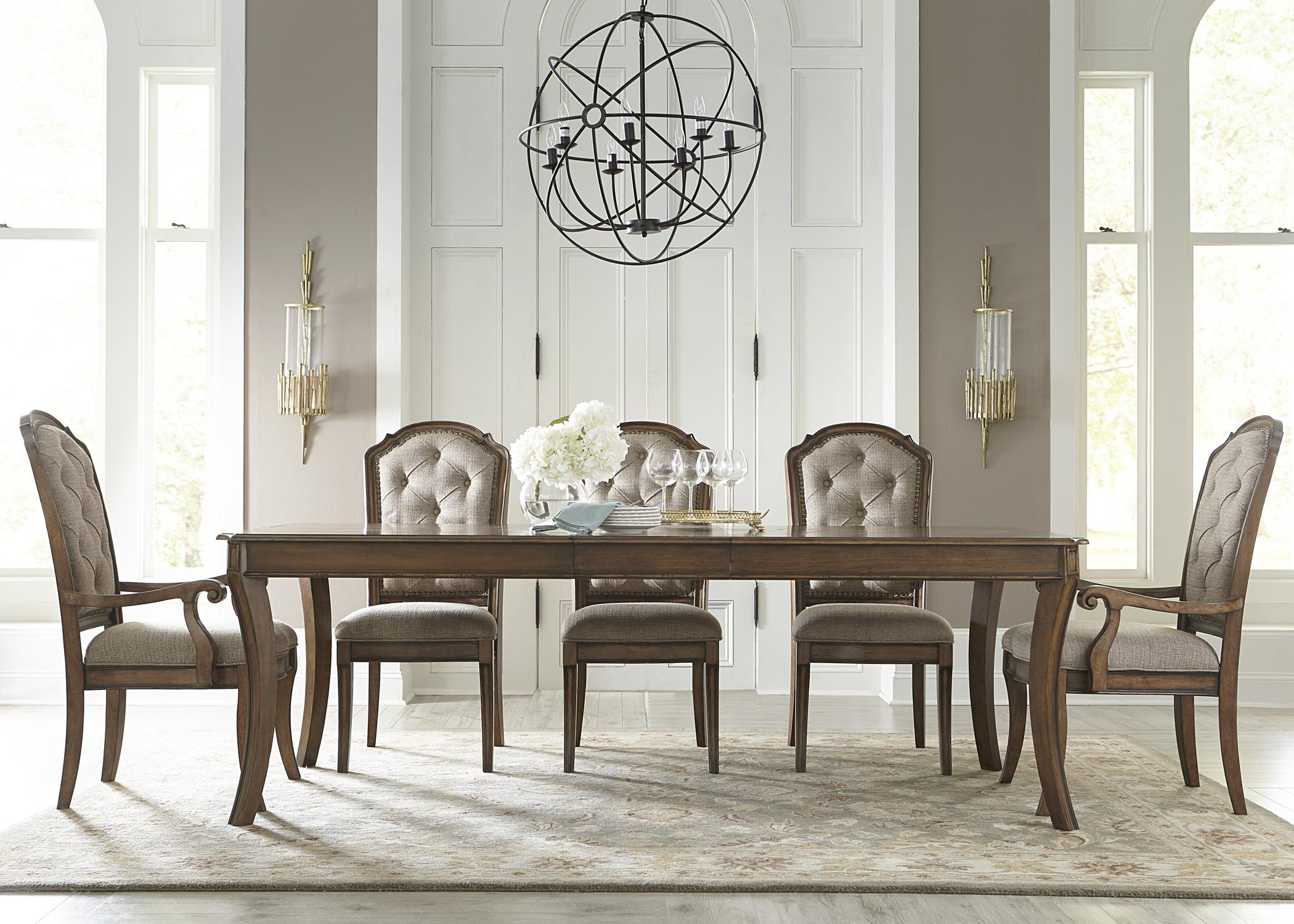 Liberty Furniture Amelia Dining Rectangular Leg Table With 16 Removable Leaf Wayside Tables