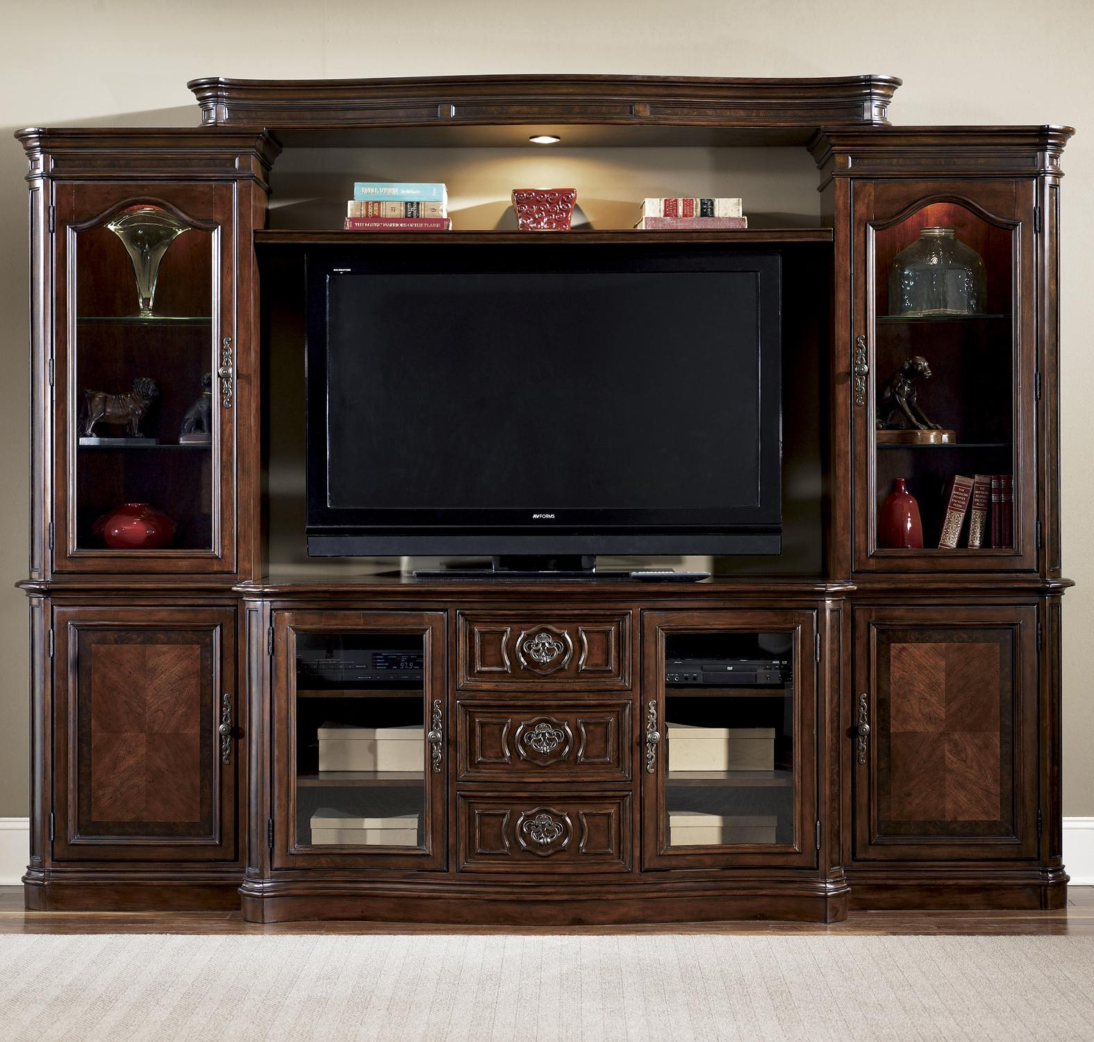 Living Room Furniture Wall Units Collection Amusing Liberty Furniture Andalusia Entertainment Center Wall Unit . Decorating Design
