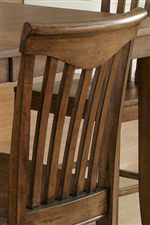 Contoured Slatted Chair Backs