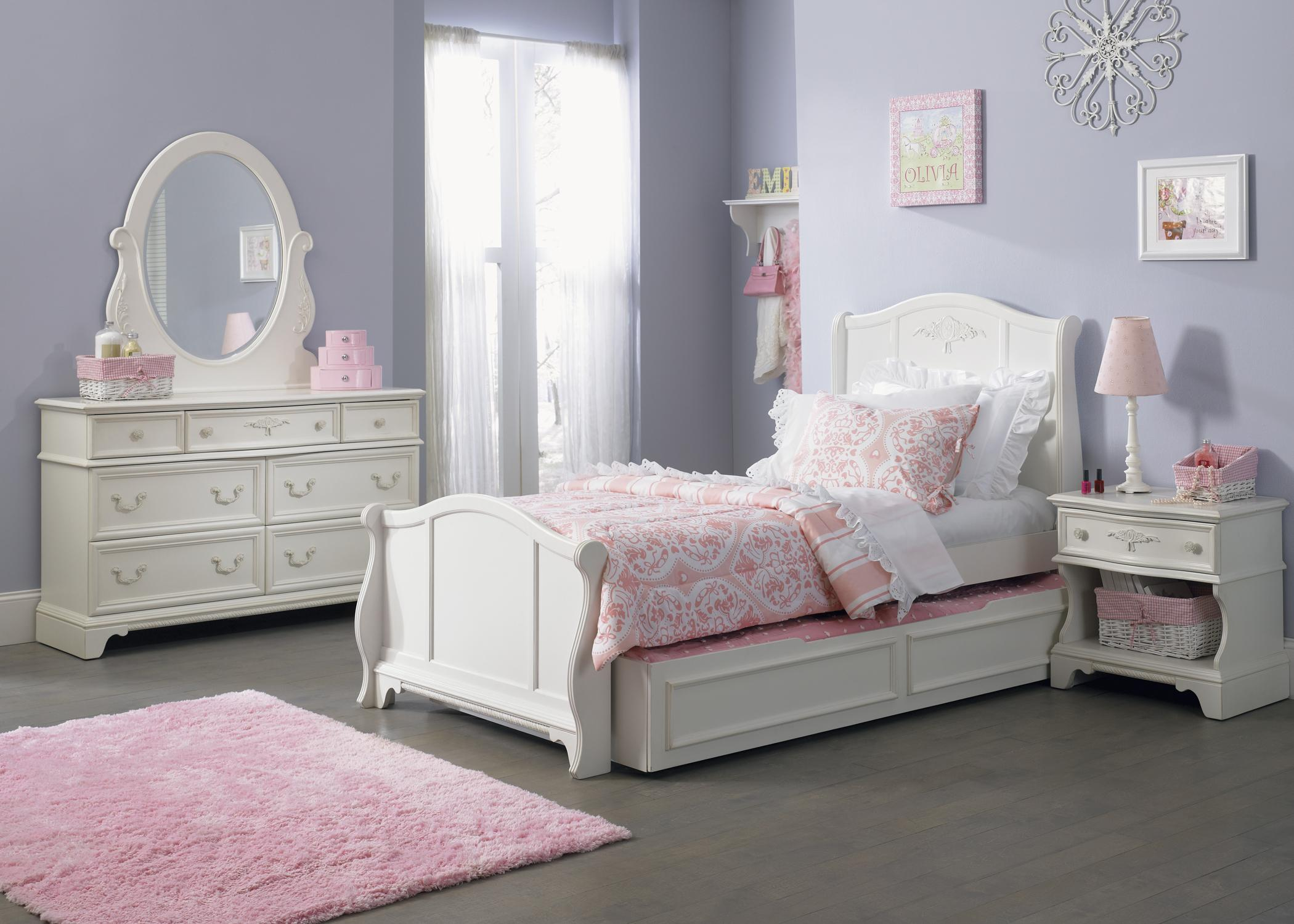 Bedroom Furniture Youth liberty furniture arielle youth bedroom 7 drawer dresser with felt