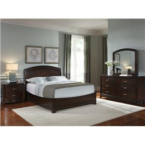 Liberty Furniture Avalon Full Storage Bed with Leather Headboard and 1 Drawer