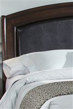 Beautiful Black Leather Arched Headboard Brings a Classy Look