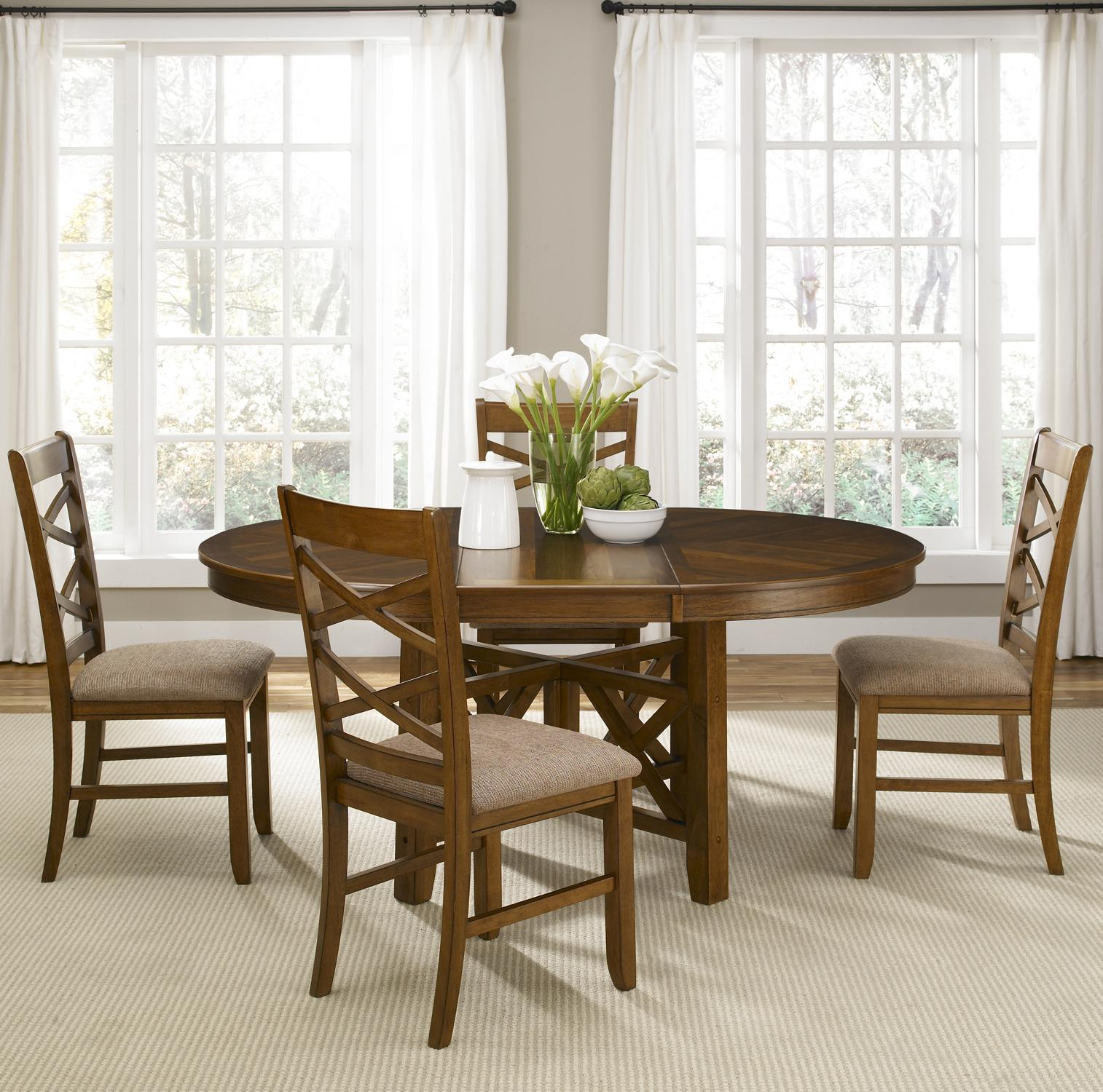 Liberty Furniture Bistro Five Piece Oval Table and Side Chair ...