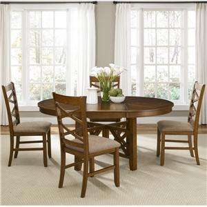 Liberty Furniture Bistro Five Piece Gathering Table and Counter Chair Dining Set