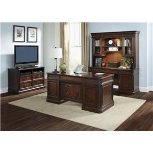 Vendor 5349 Brayton Manor Jr Executive Traditional Media Lateral File with Locking Drawers