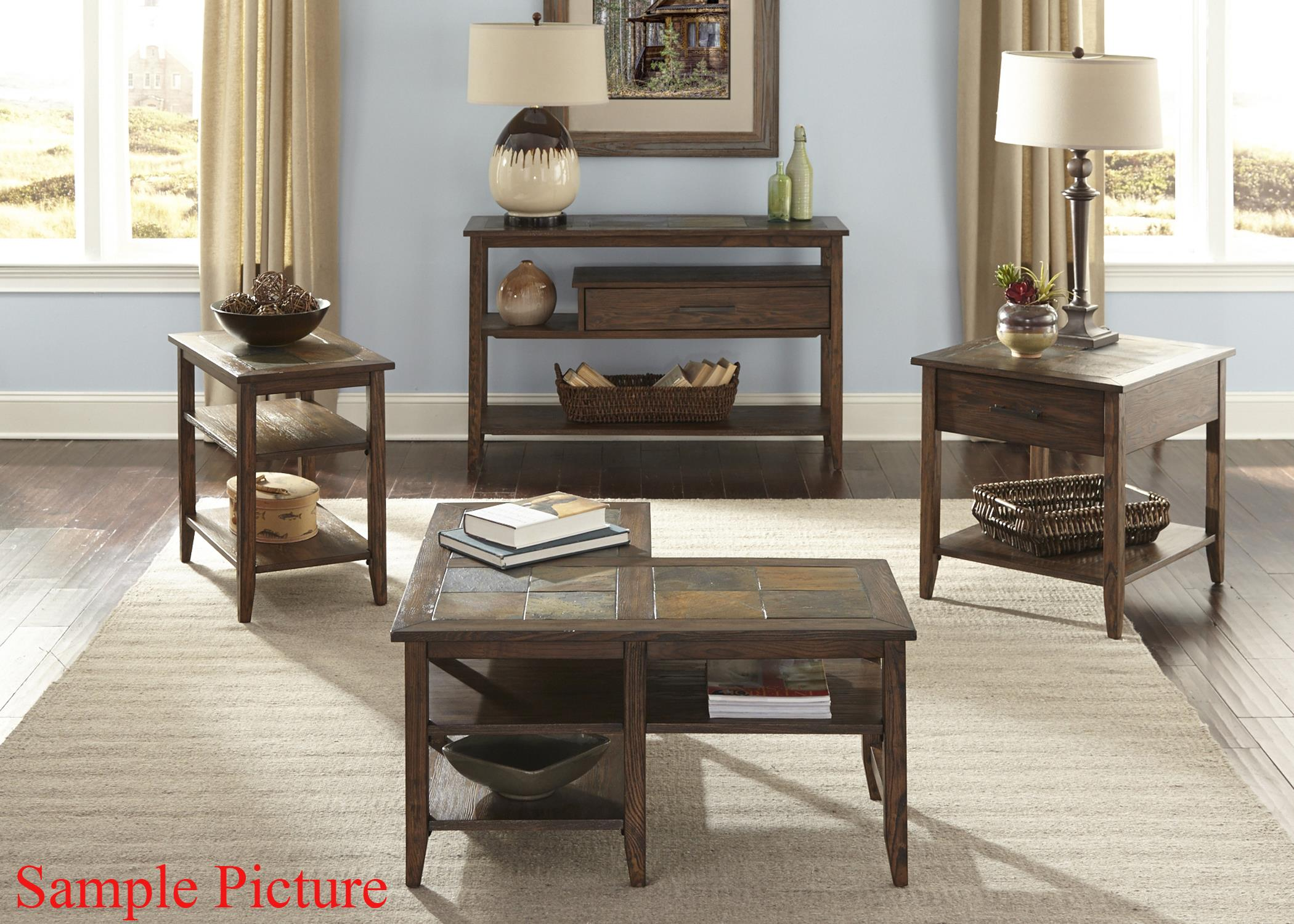 Liberty Furniture Brookstone Transitional L Shaped Cocktail Table   Wayside  Furniture   Cocktail Or Coffee Table
