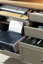 Pull-Out Computer and Keyboard Tray within Credenza