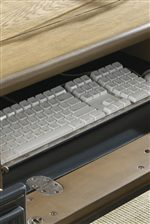 Pull-Out Keyboard Tray within Desk