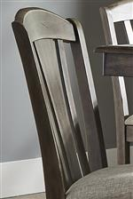 Slat Back Barstool with Arched Cap Rail