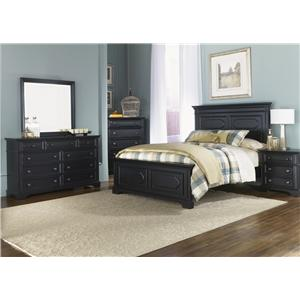Liberty Furniture Carrington II Queen Panel Headboard with Raised Panels and Moulding