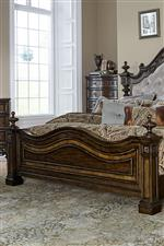 Upholstered Bed Footboard with Posters