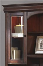 Stacked Crown Mouldings with Tempered Glass Inserts and No-Glare, Adjustable Lighting