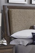 Brown tweed upholstered headboard